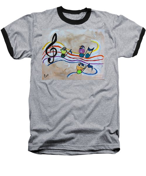 Treble Clef Trio Baseball T-Shirt by Ella Kaye Dickey