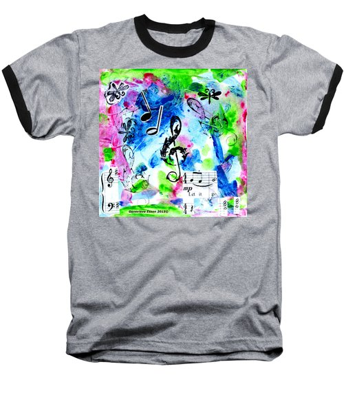 Baseball T-Shirt featuring the mixed media Treble Mp by Genevieve Esson