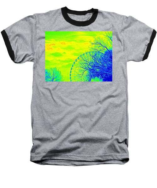 Tree And Ferris Wheel  Baseball T-Shirt