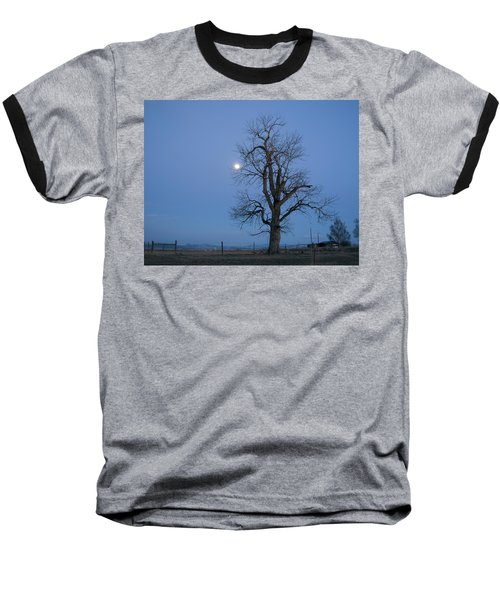 Tree And Moon Baseball T-Shirt