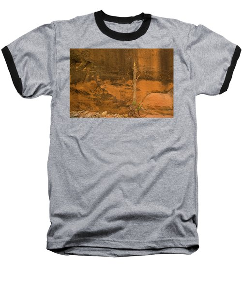 Tree And Sandstone Baseball T-Shirt