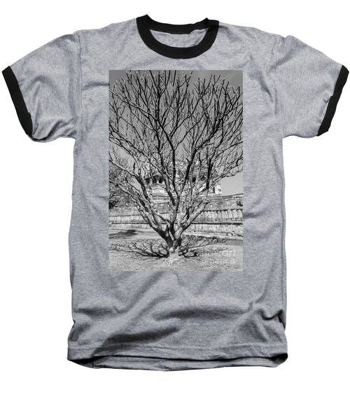 Tree And Temple Baseball T-Shirt