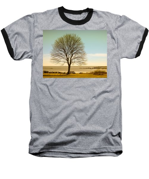 Baseball T-Shirt featuring the photograph Tree At New Castle Common by Nancy De Flon