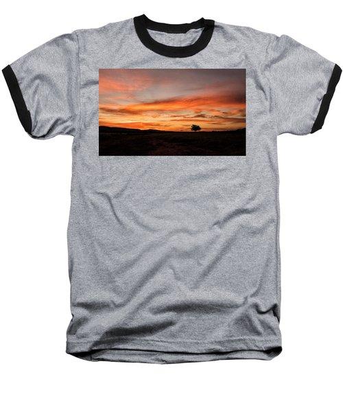 Tree At Sunrise Baseball T-Shirt