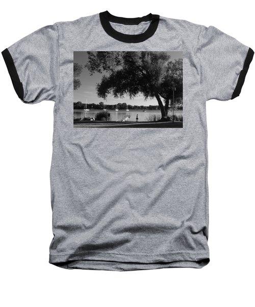 Tree At The Water Baseball T-Shirt