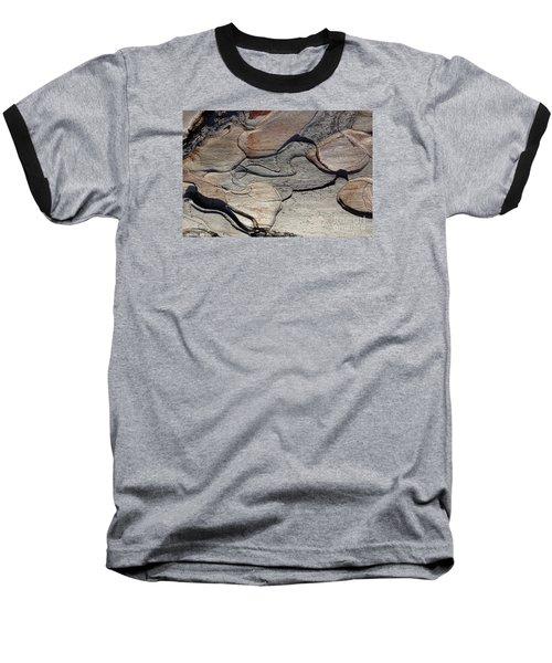 Baseball T-Shirt featuring the photograph Tree Bark 2 by Jean Bernard Roussilhe
