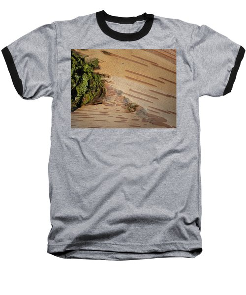 Tree Bark With Lichen Baseball T-Shirt by Margaret Brooks