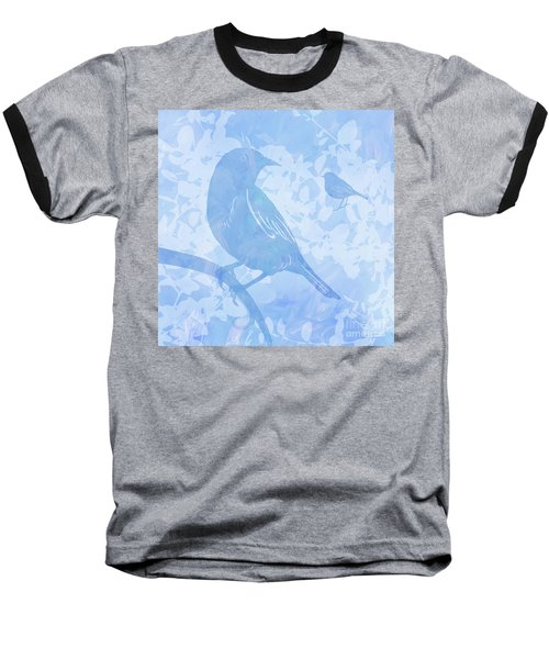 Tree Birds I Baseball T-Shirt