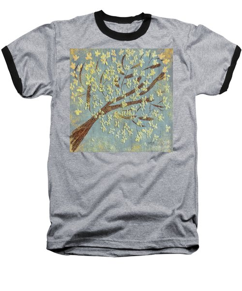 Baseball T-Shirt featuring the digital art Tree Blossoms by Lois Bryan