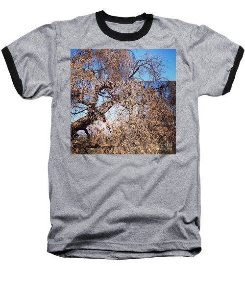 Baseball T-Shirt featuring the photograph Tree Bow And Dance by Nora Boghossian