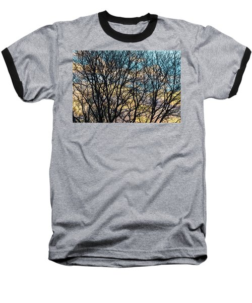 Tree Branches And Colorful Clouds Baseball T-Shirt by James BO Insogna