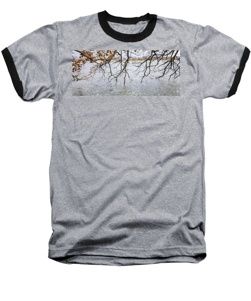 Tree Branches Over Lake Baseball T-Shirt