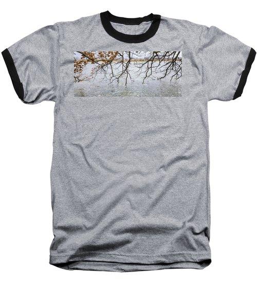 Tree Branches Over Lake Baseball T-Shirt