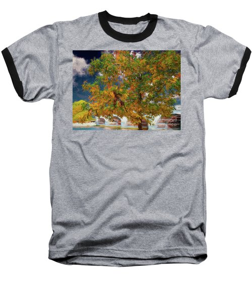 Tree By The Bridge Baseball T-Shirt