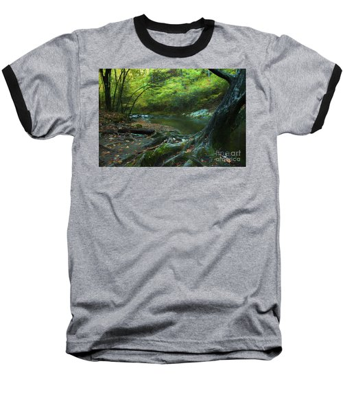 Tree By Water Baseball T-Shirt by Lena Auxier