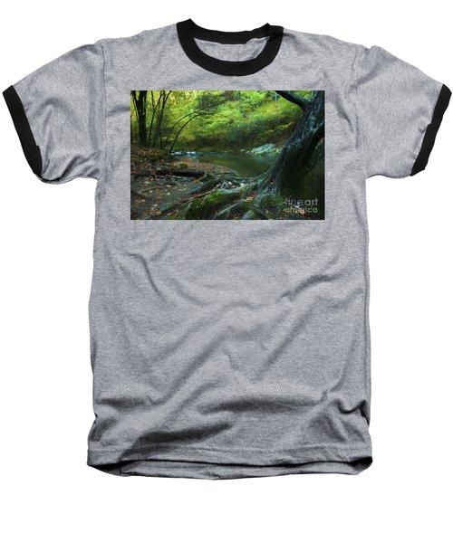 Tree By Water Baseball T-Shirt