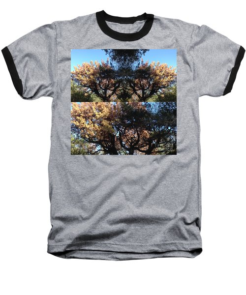Tree Chandelier Baseball T-Shirt by Nora Boghossian