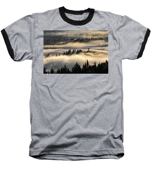 Trees In The Clouds Baseball T-Shirt