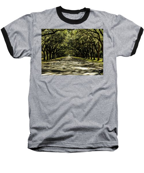 Tree Covered Approach Baseball T-Shirt