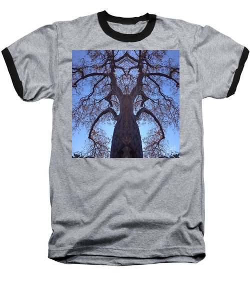 Tree Creature Baseball T-Shirt by Nora Boghossian