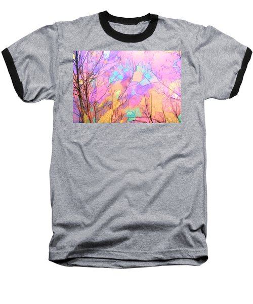 Tree Dance Baseball T-Shirt by Kathy Bassett