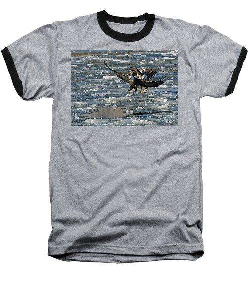 Tree Eagles On Ice Baseball T-Shirt