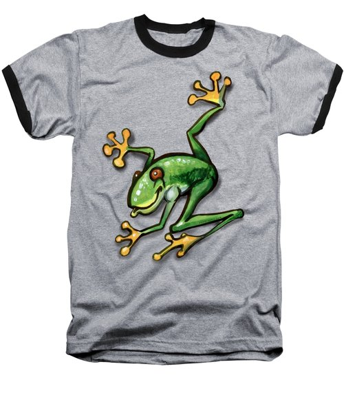 Tree Frog Baseball T-Shirt by Kevin Middleton