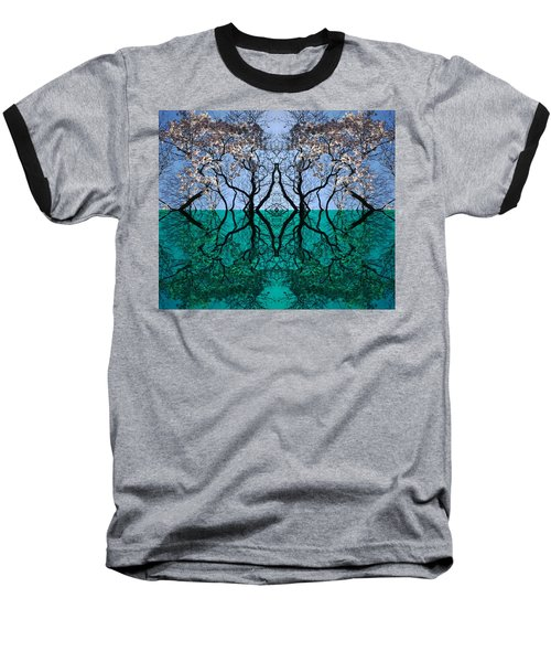 Tree Gate Between Water And Sky Worlds Baseball T-Shirt