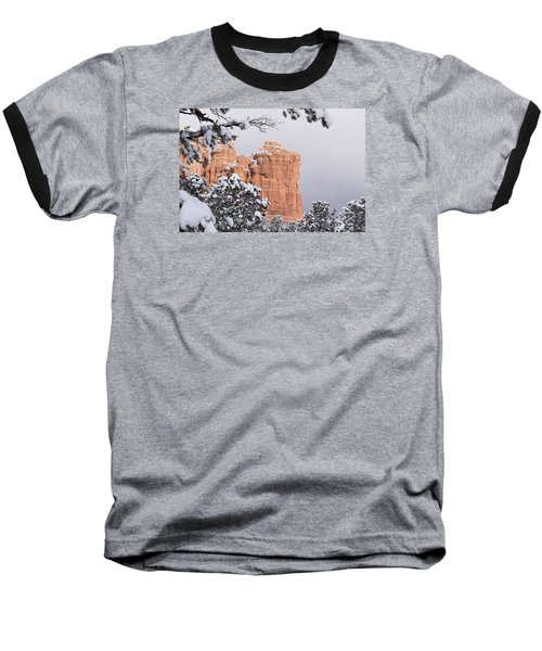 Baseball T-Shirt featuring the photograph Tree Hanging Over Coffee Pot by Laura Pratt