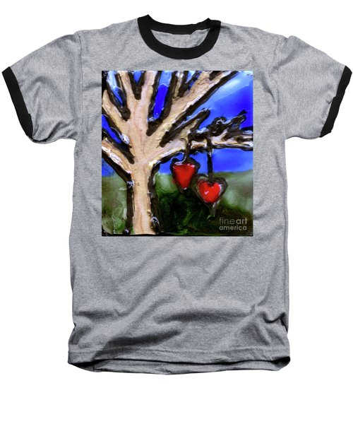 Baseball T-Shirt featuring the painting Tree Hearts by Genevieve Esson