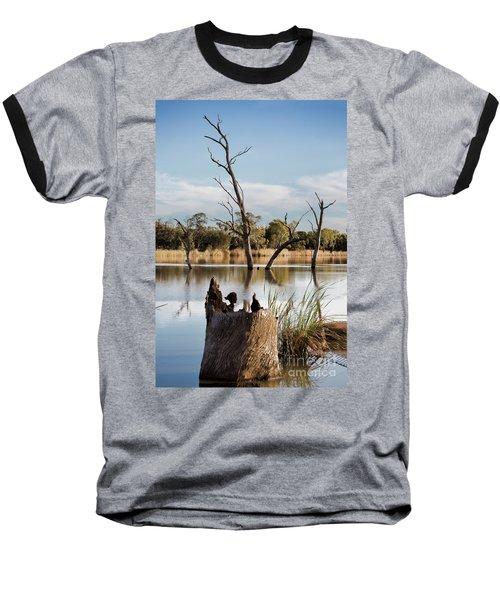 Tree Image Baseball T-Shirt by Douglas Barnard