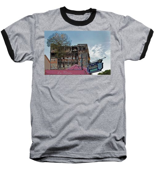 Baseball T-Shirt featuring the photograph Tree In Building Over La Floridita Havana Cuba by Charles Harden