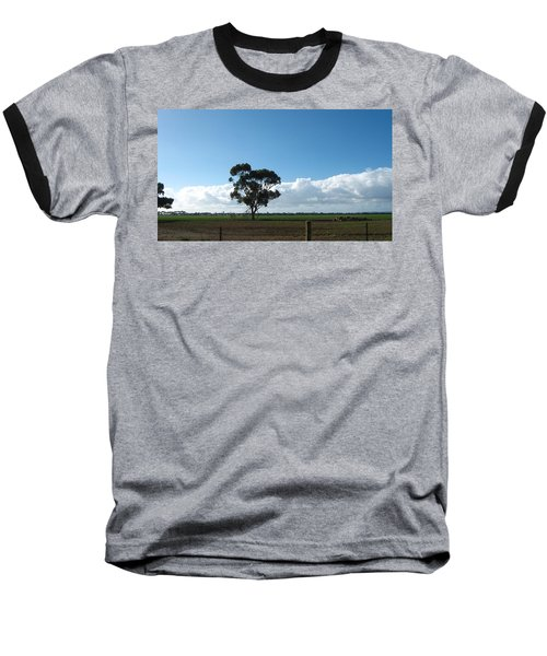 Tree In Field Baseball T-Shirt