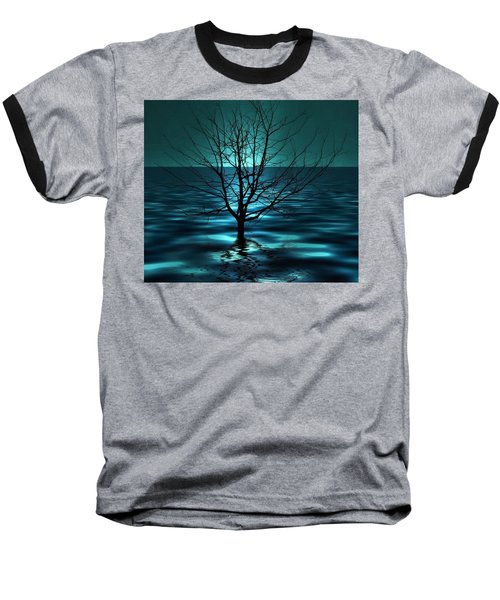Tree In Ocean Baseball T-Shirt
