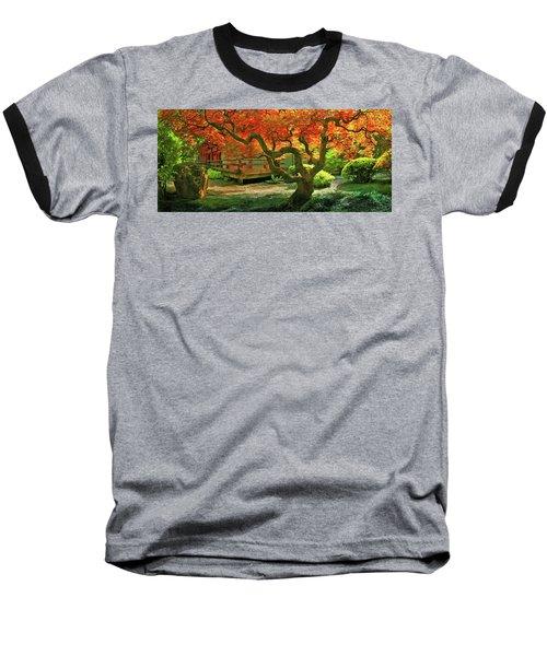 Tree, Japanese Garden Baseball T-Shirt by Marius Sipa