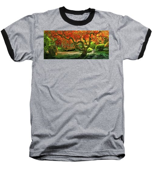 Tree, Japanese Garden Baseball T-Shirt