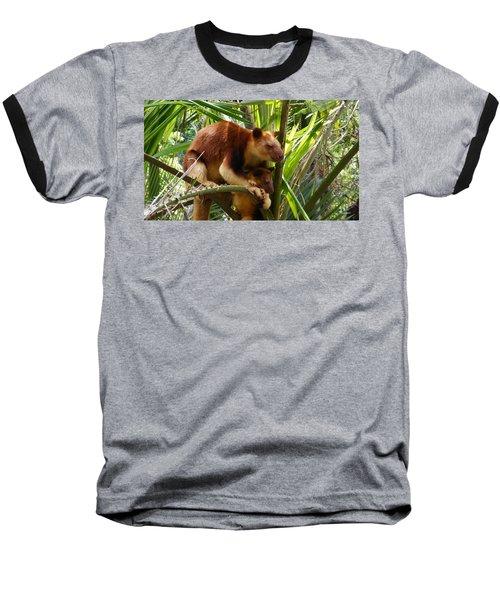 Tree Kangaroo 1 Baseball T-Shirt by Gary Crockett