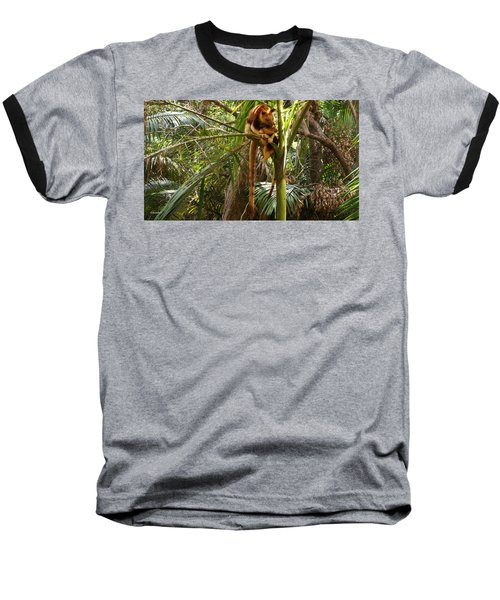 Tree Kangaroo 2 Baseball T-Shirt by Gary Crockett