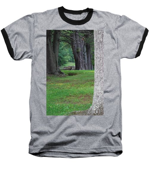Baseball T-Shirt featuring the photograph Tree Line by Eric Liller