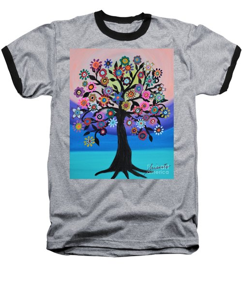 Blooming Tree Of Life Baseball T-Shirt
