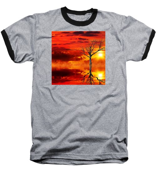 Tree Of Destruction Baseball T-Shirt by Gabriella Weninger - David
