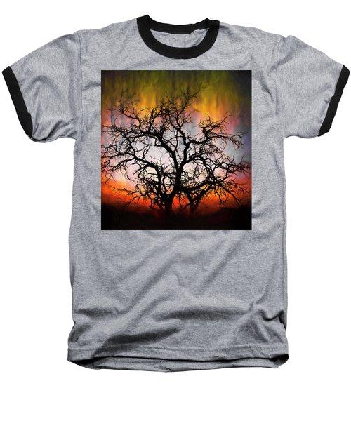 Tree Of Fire Baseball T-Shirt