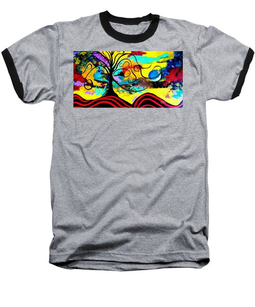 Tree Of Life Abstract Painting  Baseball T-Shirt