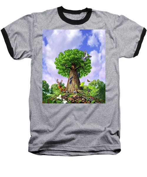 Tree Of Life Baseball T-Shirt by Jerry LoFaro