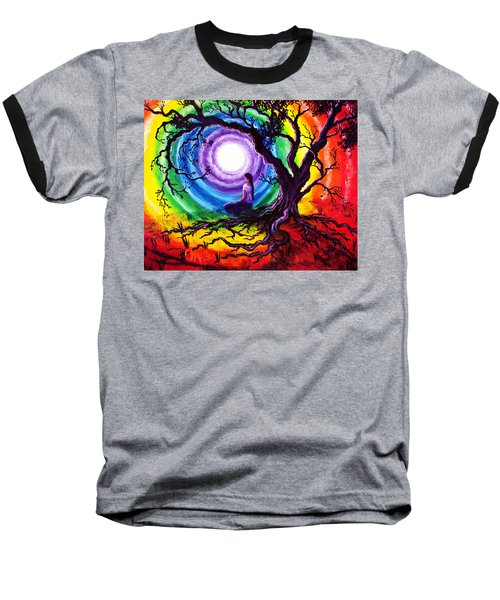 Tree Of Life Meditation Baseball T-Shirt by Laura Iverson