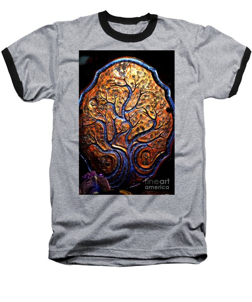 Baseball T-Shirt featuring the ceramic art Tree Of Life by Susanne Still