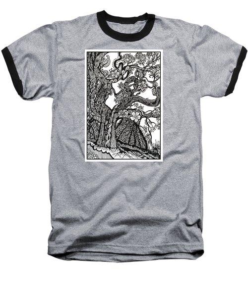 Tree On A Hillside Baseball T-Shirt