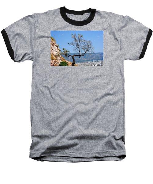 Tree On Acropolis Hill Baseball T-Shirt