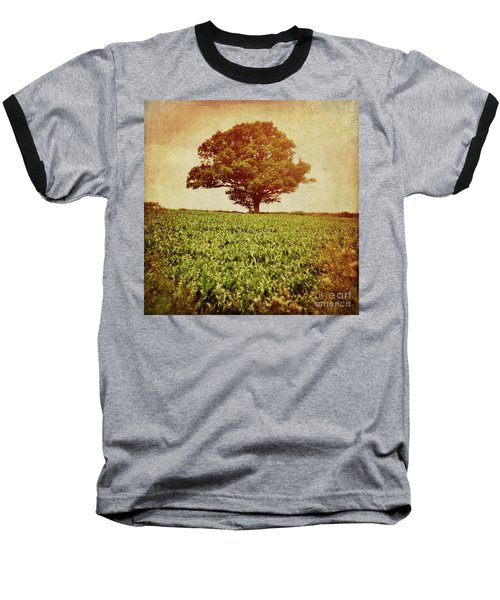 Baseball T-Shirt featuring the photograph Tree On Edge Of Field by Lyn Randle