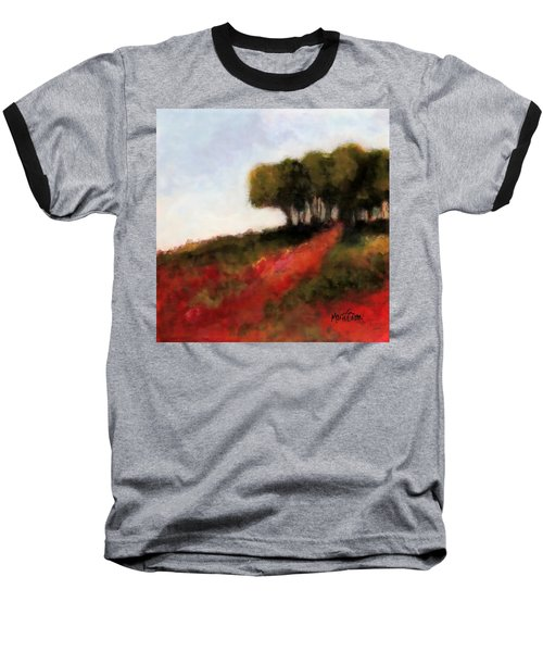 Trees On The Hill Baseball T-Shirt by Marti Green